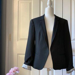Loft Button-less Blazer, Black, size 12
